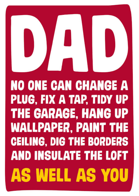 Dad No One Can Change A Plug As Well As You Funny Fathers Day Card