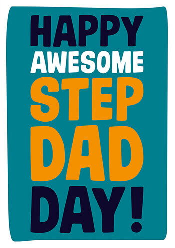Happy Awesome Step Dad Day Funny Fathers Day Card