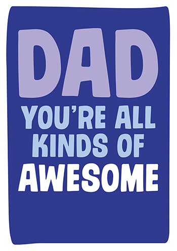 All Kinds of Awesome Funny Fathers Day Card