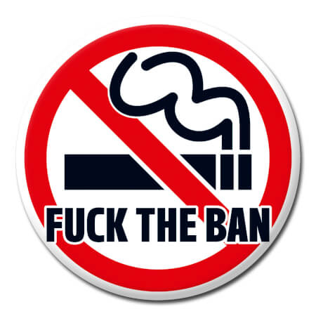 Fuck The Ban Rude Badge
