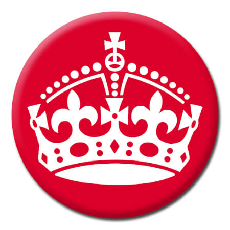 Keep Calm Crown Funny Badge