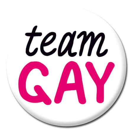 Team Gay Funny Badge