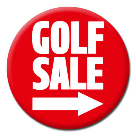 Golf Sale Funny Badge