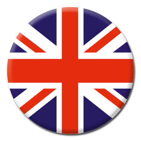 Union Jack Funny Badge