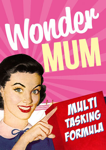 Wonder Mum Funny Birthday Card