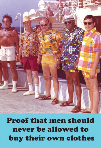 Men Should Never Be Allowed To Buy Their Own Clothes Funny Fridge Magnet
