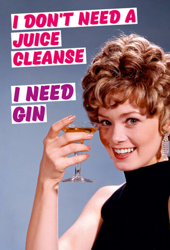 I Don't Need a Juice Cleanse I need Gin Funny Fridge Magnet