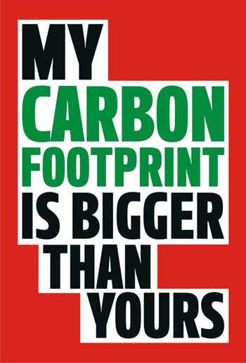 My Carbon Footprint Funny Fridge Magnet