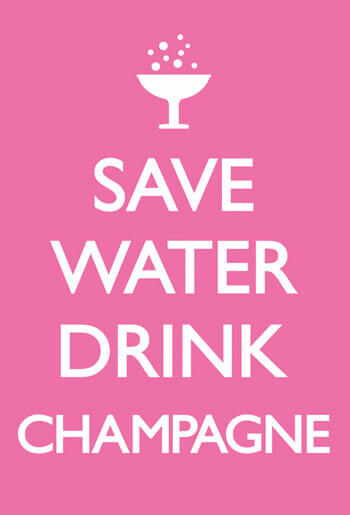 Save Water Drink Campagne Funny Fridge Magnet