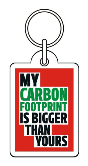 My Carbon Footprint Is Bigger Funny Keyring