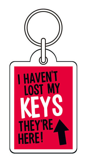 I Haven't Lost My Keys Funny Keyring