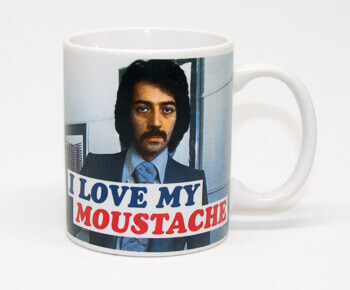 I Love My Moustache Funny Mug