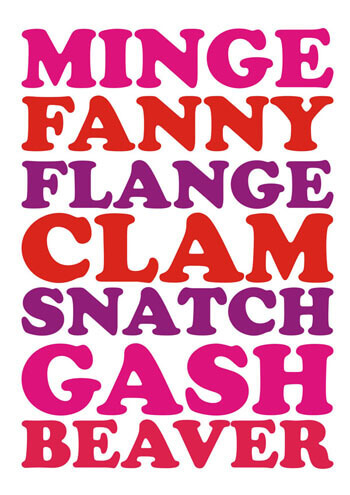 Minge Fanny? Funny Birthday Card
