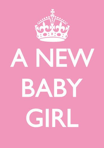 A New Baby Girl Funny Baby Card