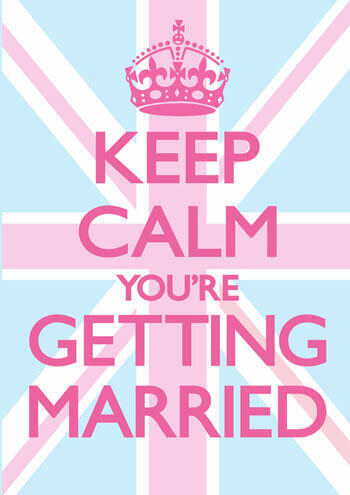 keep calm youre getting married funny wedding card