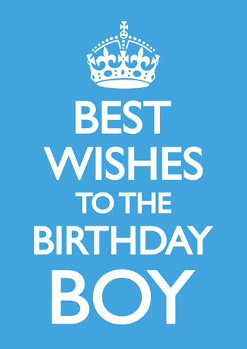 Best Wishes To The Birthday Boy Funny Birthday Card