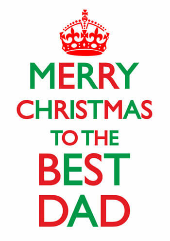 Best Christmas Cards.Merry Christmas To The Best Dad Funny Christmas Card