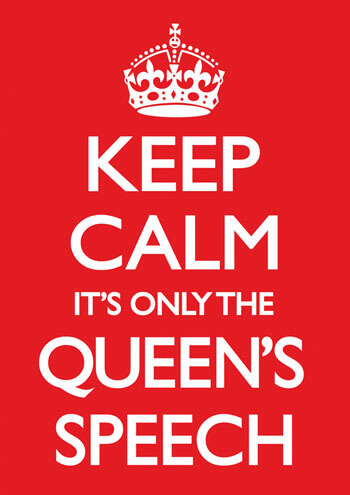 Keep Calm It's Only The Queen's Speech Funny Christmas Card
