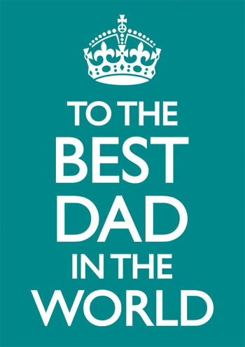 Best Dad In The World Funny Greeting Card