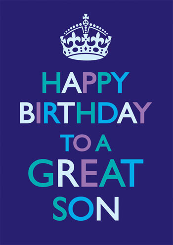 Happy Birthday To A Great Son Funny Card