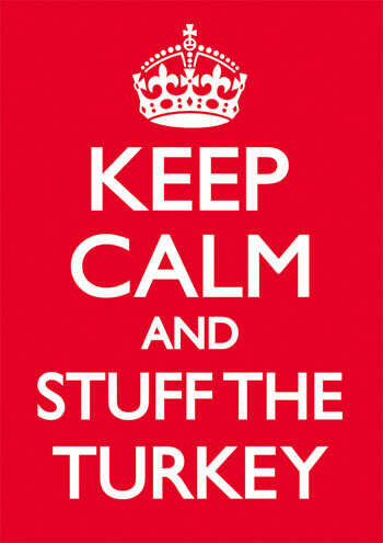 Keep Calm And Stuff The Turkey Funny Christmas Card