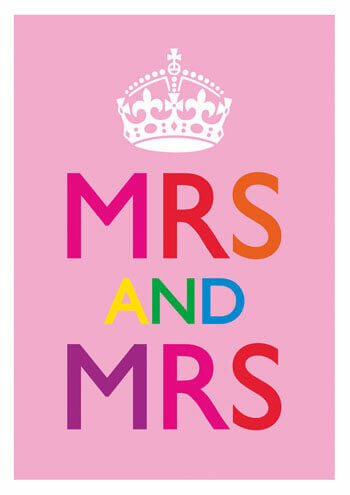 Mrs And Mrs Funny Gay Wedding Card