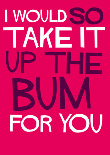 I Would So Take It Up The Bum Funny Valentines Card
