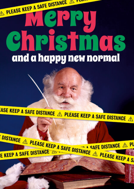 Merry Christmas And A Happy New Normal Lockdown Card