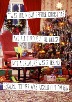 T'was the Night Before Christmas Funny Christmas Card
