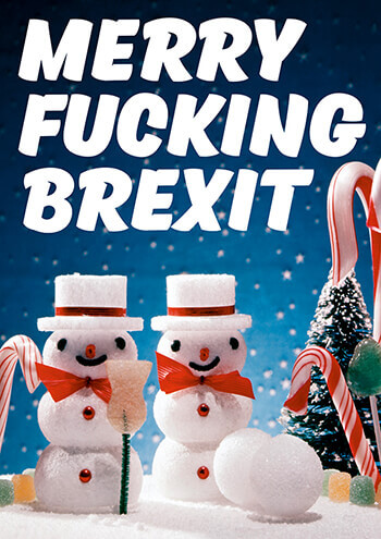 Merry Fucking Brexit Rude Christmas Card