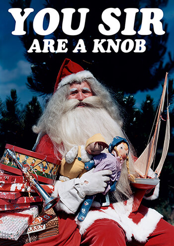Your Sir Are A Knob Funny Christmas Card