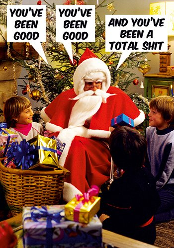And You've Been a Total Shit Christmas Postcard