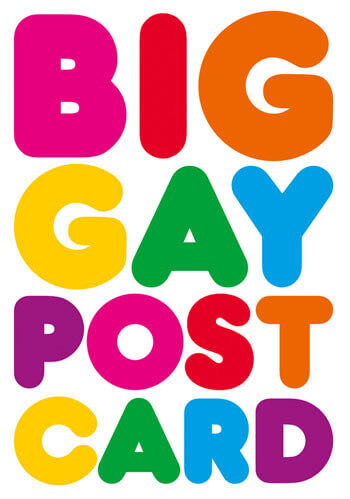 Big Gay Postcard Funny