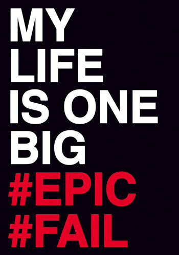My Life Is One Big #Epic #Fail Postcard Funny