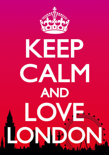 Keep Calm And Love London Postcard Funny