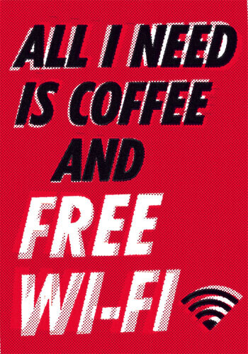 All I Need Is Coffee And Free Wifi Postcard Funny