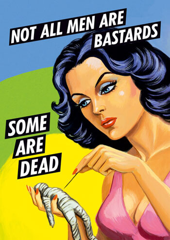 Not All Men Are Bastards Postcard Rude