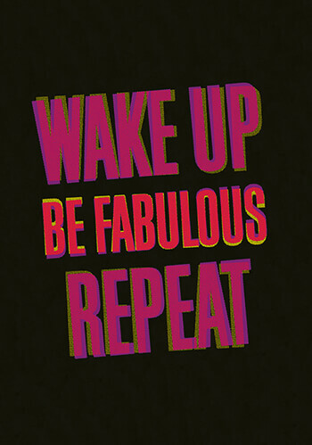 Wake Up Be Fabulous Repeat Postcard Funny