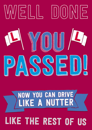 Well Done You Passed Funny Congratulations Card