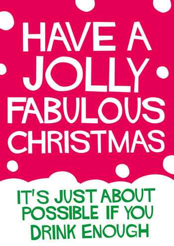 Have A Jolly Fabulous Christmas Funny Christmas Card