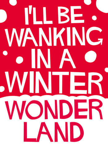 Wanking In A Winter Wonderland Rude Christmas Card