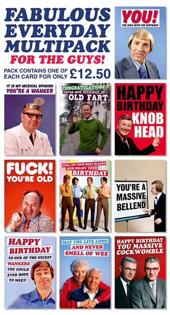 Fabulous Everyday Funny Card Multipack For Guys