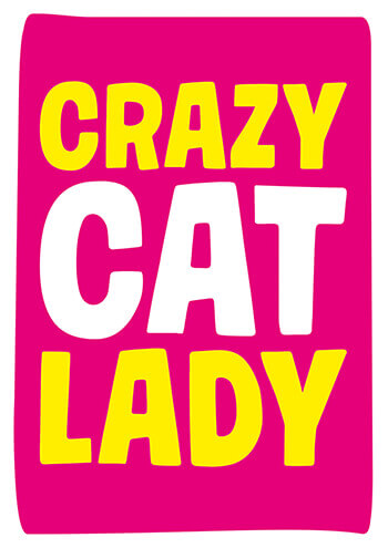 Crazy Cat Lady Funny Birthday Card Gum 18 200 Rude Cards