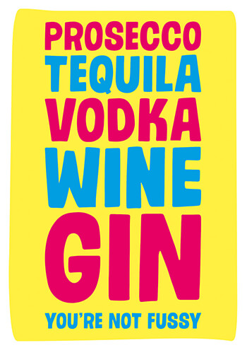 Prosecco Tequila Vodka Funny Birthday Card 250 By Dean Morris Cards
