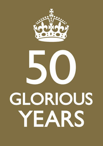 50 Glorious Years Funny Greeting Card