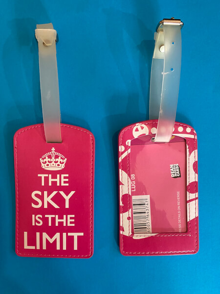 The Sky Is The Limit Luggage Tag