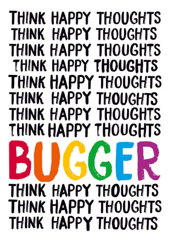 Think Happy Thoughts Greeting Card