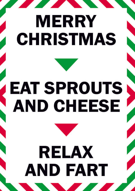 Eat Sprouts and Cheese Lockdown Christmas Card
