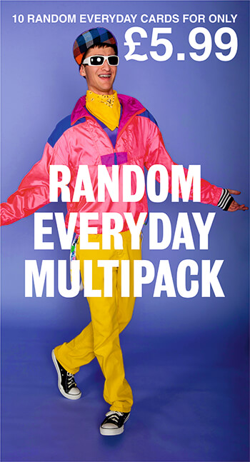 Random Everyday Funny Card Pack of 10 Multipack