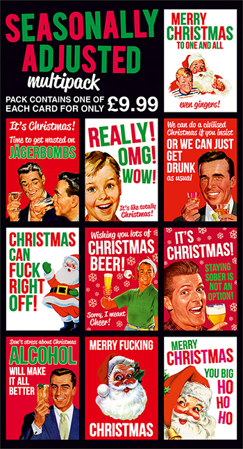 Seasonally Adjusted Funny Card Multipack